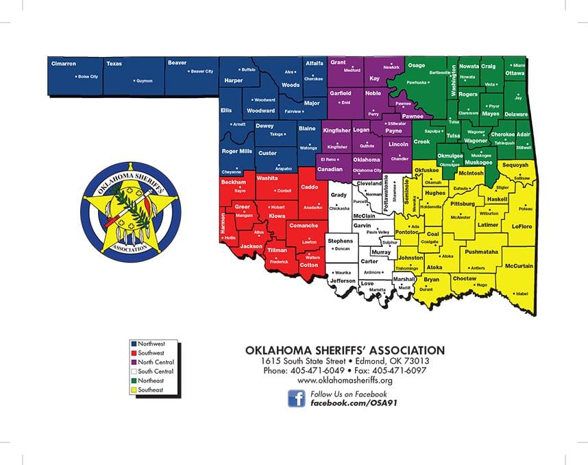 Oklahoma Sheriff Map